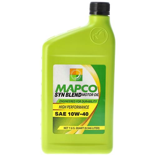 Wholesale 1QT MAPCO SYNTHETIC BLEND 10W40 MOTOR OIL