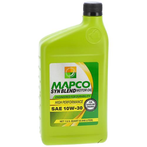 Wholesale 1QT MAPCO 10W-30 SYNTHETIC BLEND MOTOR OIL