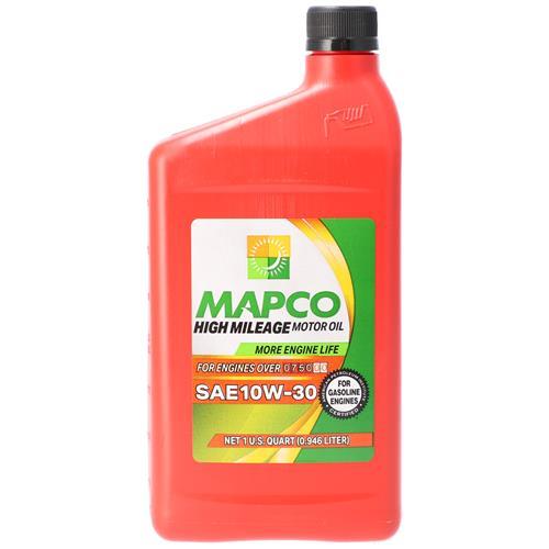 Wholesale 1QT MAPCO 10W30 HI MILEAGE MOTOR OIL