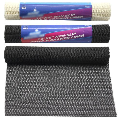 "Wholesale 12"" x 5' RUBBER SHELF LINER"