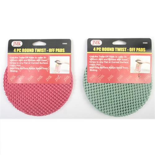 Wholesale 4PC ROUND TWIST-OFF PADS