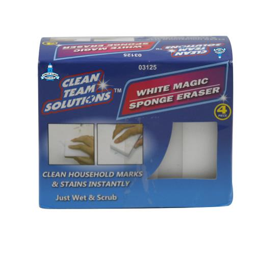 Wholesale 4pc White Magic Sponge Eraser