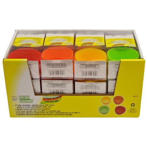 Wholesale 6pc SILICONE CUPCAKE SET