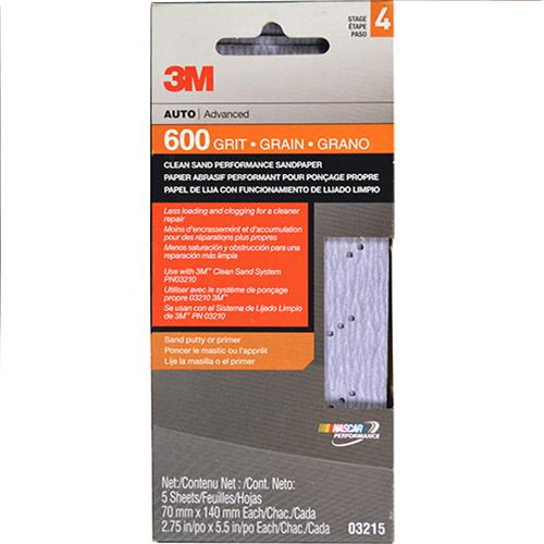 Wholesale 3M 5pk SANDPAPER 600 GRIT