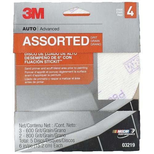 Wholesale 5PK 3M 6'' PSA SANDING DISCS 600-800 FINE GRITS