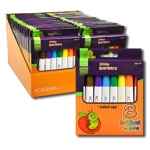 Wholesale 8ct JUMBO WASHABLE MARKERS