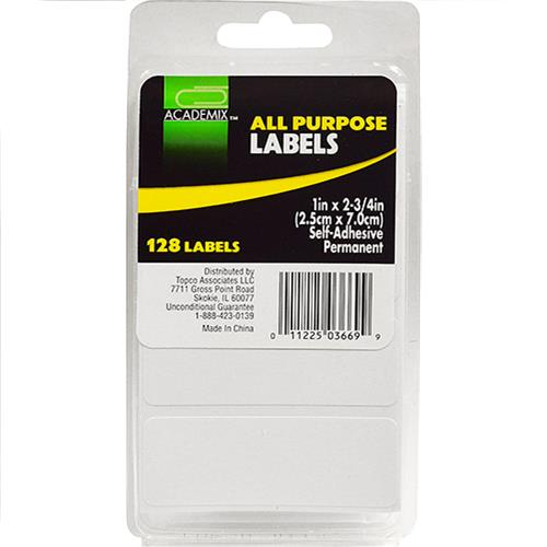 "Wholesale LABELS WHITE ALL PURPOSE 1""x 2"