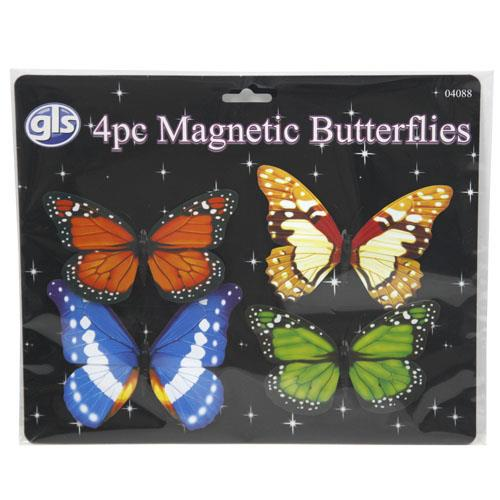 Wholesale 4pc Magnetic Butterflies