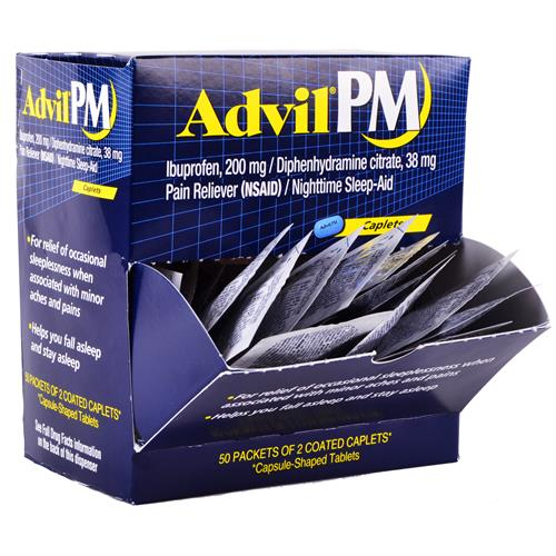 Wholesale Advil PM Coated Caplets in Counter Display