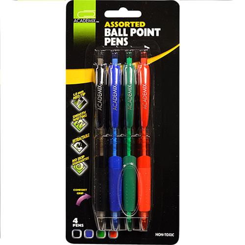 Wholesale 4PK BALL POINT PENS 4 COLORS C