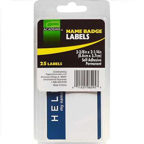 Wholesale LABELS NAME BADGE 25 CT
