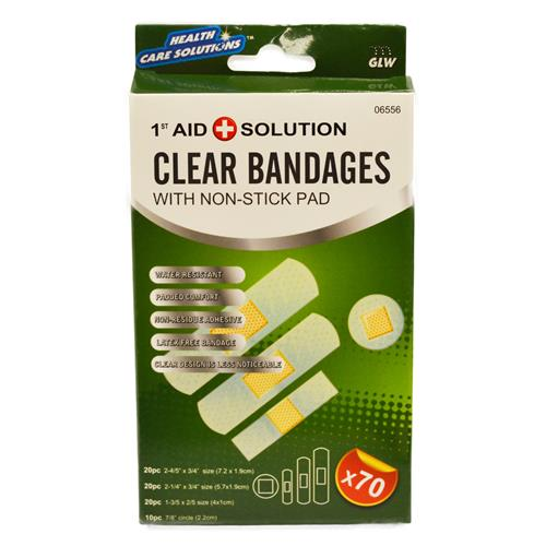 Wholesale 70pc CLEAR BANDAGES