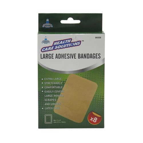 Wholesale 8pc LARGE ADHESIVE BANDAGES