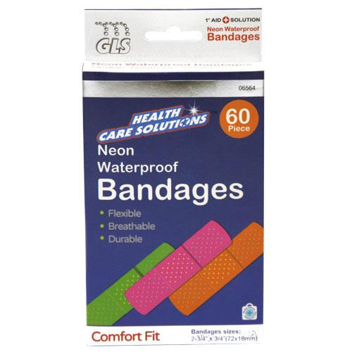 Wholesale 60pc NEON BANDAGES