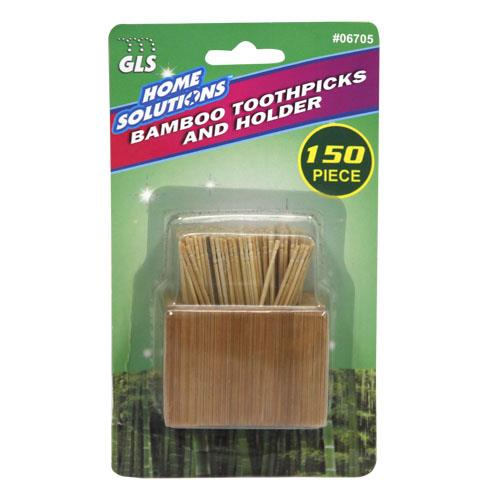 Wholesale 150pc BAMBOO TOOTHPICKS w/ HOL