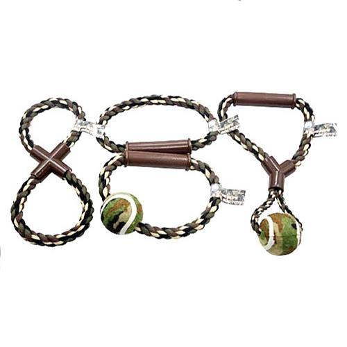 Wholesale CAMO ROPE & BALL DOG TOYS