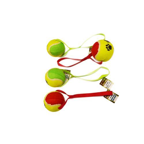 """Wholesale 4"""" PET TENNIS BALL w/ STRAP"""
