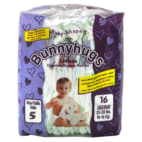 Wholesale Bunnyhugs XLarge Baby Diapers Sz 5 (Over 28 Lbs)