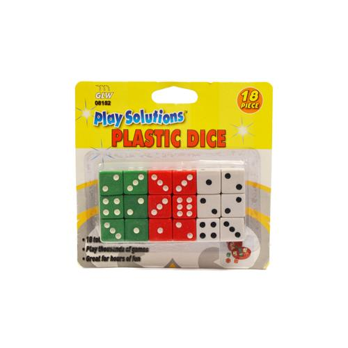 Wholesale 18PC PLASTIC DICE