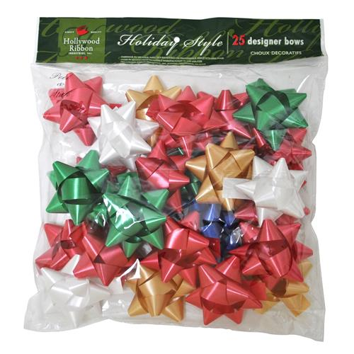 Wholesale Christmas Poly Assorted Gift Bows Medium Size in B