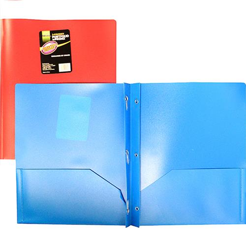 Wholesale 2 POCKET PVC FOLDERS WITH PRON