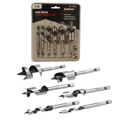 Wholesale 6PC STUBBY AUGER BIT SET