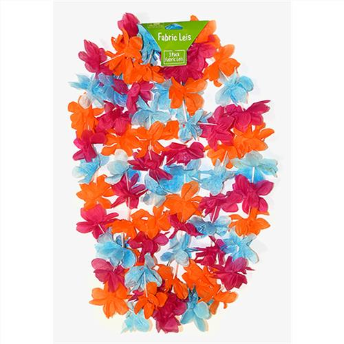 Wholesale 3PK FABRIC HAWAIIAN LEIS