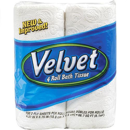 Wholesale Velvet Bath Tissue 4/150 sheets/2 ply