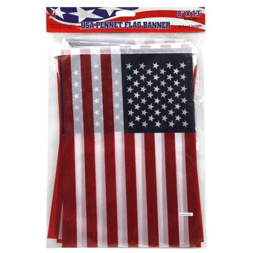 "Wholesale 13"" USA FLAG PENNANT FLAG BANNER"