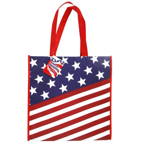 "Wholesale USA Flag Shopping Bag 13.5""X13"""