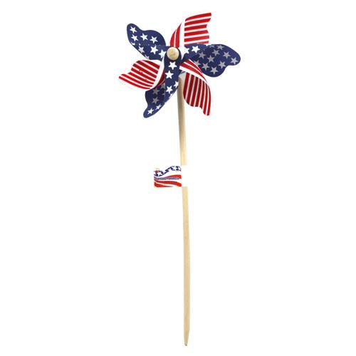 Wholesale USA FLAG PINWHEEL ON WOOD STAK