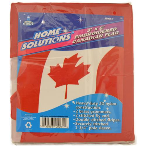 Wholesale 3'x6' EMBROIDERD CANADIAN FLAG