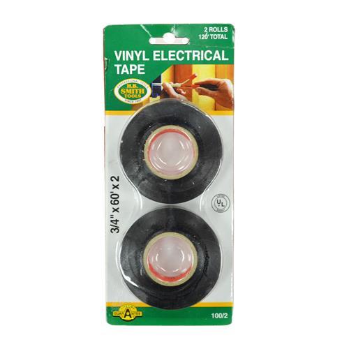 Wholesale 2PK ELECTRIC TAPE 3/4x60' U/L