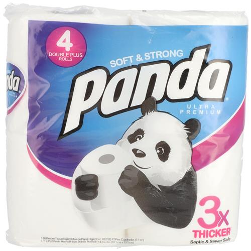 Wholesale 4pk Panda Bath Tissue 176 sheets 2 ply - Ultra Premium