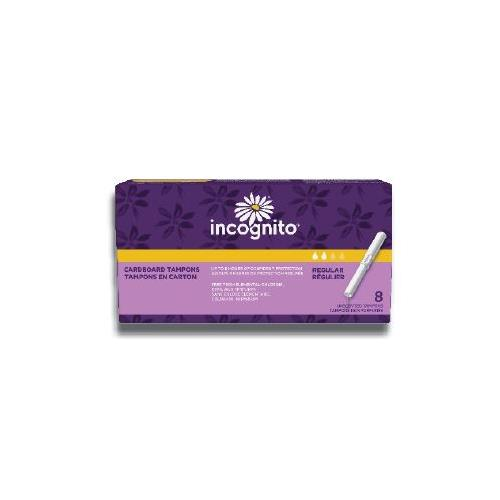 Wholesale Incognito Regular Tampon Unscented Cardboard