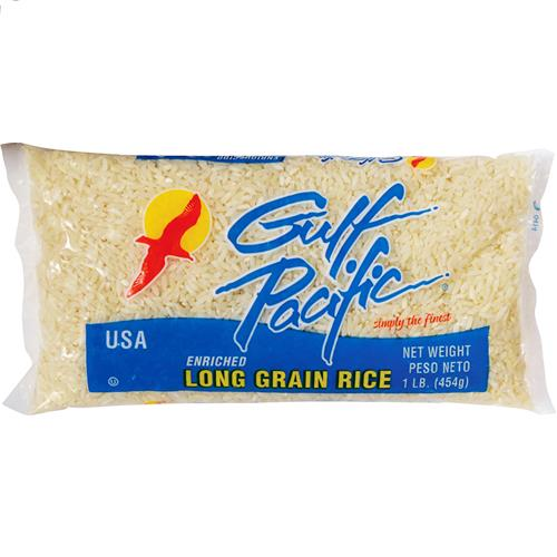 Wholesale 1LB LONG GRAIN WHITE RICE GULF PACIFIC BRAND