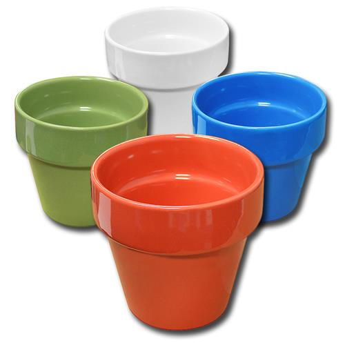 "Wholesale 4"" FLOWER POT ELECTRIC COLORS"