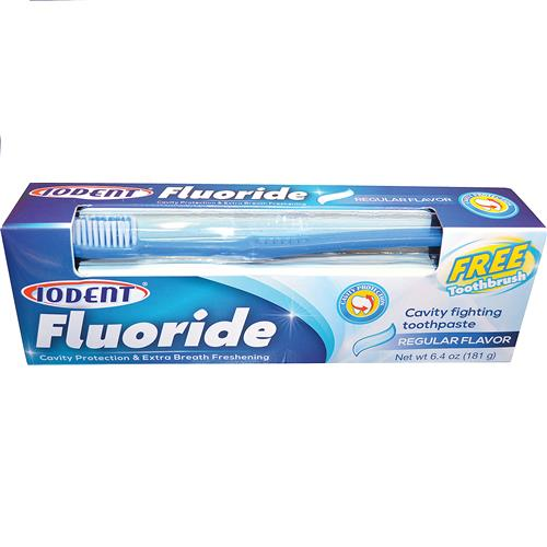Wholesale Iodent Fluoride Regular Toothpaste With Toothbrush