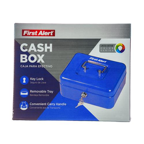 Wholesale CASH BOX WITH KEY LOCK & TRAY .1CUFT BLUE