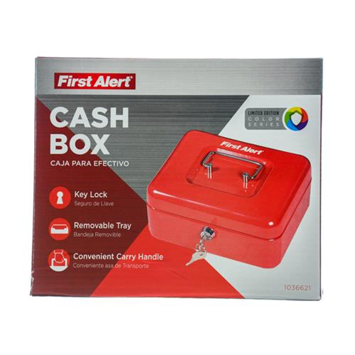 Wholesale CASH BOX WITH KEY LOCK & TRAY .1CUFT RED