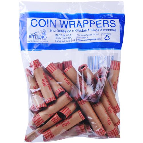 Wholesale CRIMPED PENNY COIN WRAPPERS IN