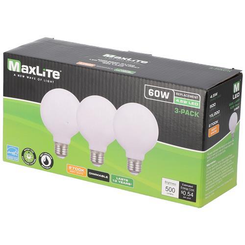 Wholesale 3PK 4.5=60W LED GLOBE BULB