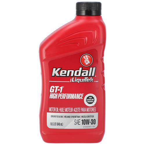Wholesale 1QT KENDALL 10W30 GT-1 SYNTHETIC BLEND MOTOR OIL