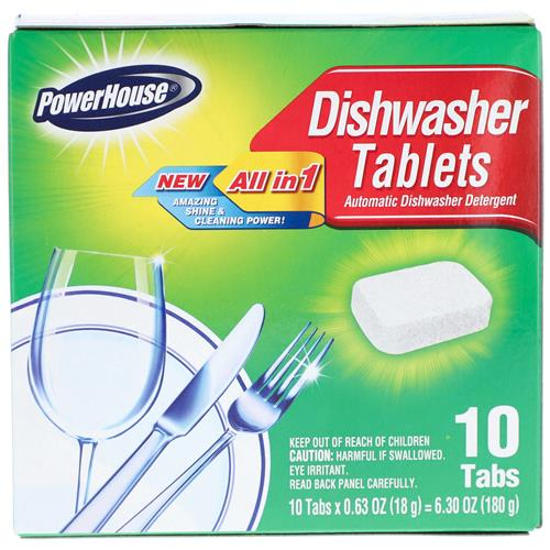 Wholesale 10CT DISHWASHER TABLETS CLEAN & SHINE ALL-IN-1