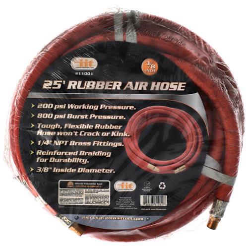 """Wholesale 25' X 3/8"""" Rubber Air Hose"""
