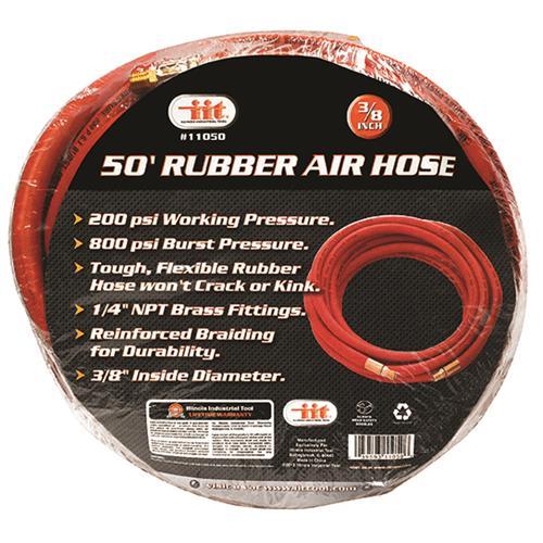 """Wholesale 50' X 3/8"""" Rubber Air Hose"""