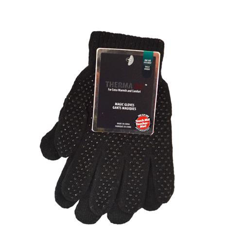 Wholesale Magic Glove w/Grip Dots BLACK ONLY - adults