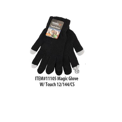 Wholesale Thermaxxx Winter Knit Glove w/Touch Black Only