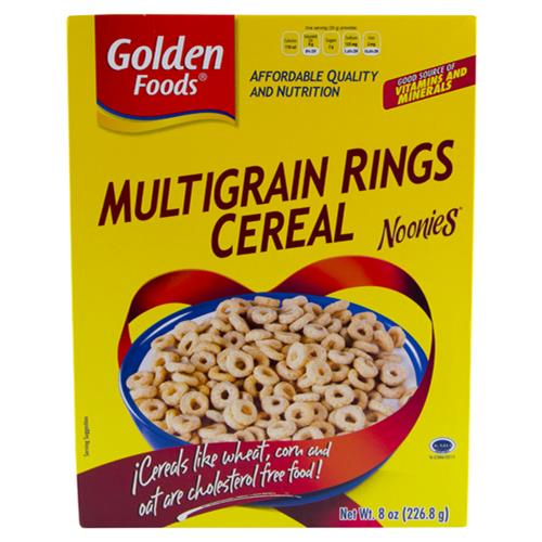 Wholesale Golden Foods Multigrain O's (Noonies) Cereal  Exp 9/25/15