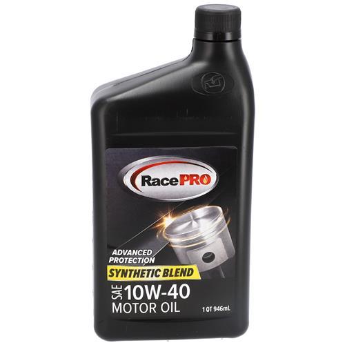 Wholesale 1QT RACE PRO SYNTHETIC BLEND 10W40 MOTOR OIL